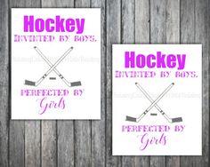 Girls HockeyGirls hockey printPRINTABLE wall by Raising3Cains