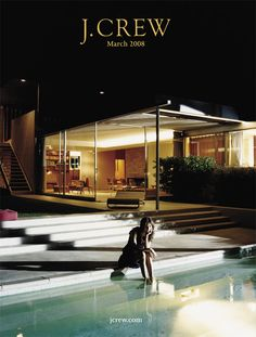 This is the front cover image of the catalog—we shot at Richard Neutra's iconic 1946 Kaufmann House in Palm Springs