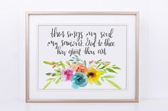 This item is unavailable Hymn Art, Then Sings My Soul, Just Because Gifts, Great Housewarming Gifts, Baby Nursery Decor, Etsy Crafts, Bible Verses Quotes, Dorm Decorations, House Warming