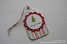 In My Creative Opinion: 25 Days of Christmas Tags 25 Days Of Christmas, Christmas Tree Cards, Christmas Gift Tags, Card Tags, Merry And Bright, Creative