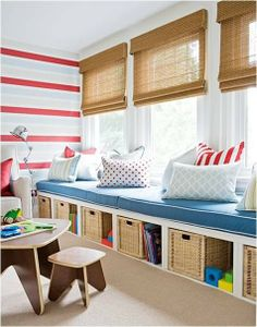 Playroom - love the seats and storage