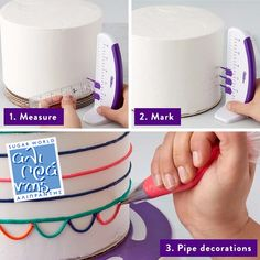 Get your very own Cake Marker. Wilton is the one stop shop for all baking equipment and essentials in the UK. Get inspired today. Pipe Decor, Novelty Birthday Cakes, Paper Cake, Cake Art, Funfetti Cake, Colorful Cakes, Cookie Decorating, Decorating Cakes, Decorating Tips