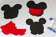 Invitatii Mickey handmade