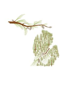An illustration of the mitten state that I haven't seen before. Cool, isn't it?