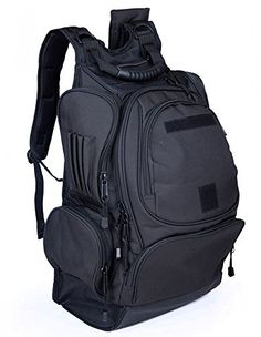 b6d697e4e1da OUTGEAR Military Rucksacks Multipurpose Bounty Hunter Tactical Daypacks  Backpacks with Grenade Survival Kit For Hiking Climbing School Outdoor  Sports Black ...