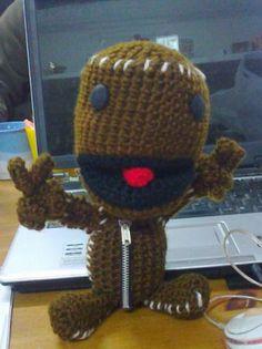 sackboy boca abierta crochet