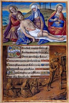 "Jean Poyer ""Stabat mater"": Lamentation Border: Deposition Hours of Henry VIII, in Latin Illuminated by Jean Poyer France, Tours ca. 1500 256 x 180 mm The Morgan Library & Museum"