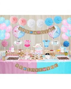 Buy Gender Reveal Party Decorations Boy or Girl Gender Reveal Balloons Photo Booth Props Straws for Baby Shower Decorations 84 Pack - Set 1 - and Find More Baby Shower Party Decorations enjoy up to off. Gender Reveal Party Decorations, Baby Shower Decorations For Boys, Boy Baby Shower Themes, The Sims, Sims 4, Gender Party, Baby Gender Reveal Party, Gender Reveal Party Supplies, Reveal Parties