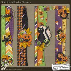 Scrapbooking handmade borders   Halloween borders