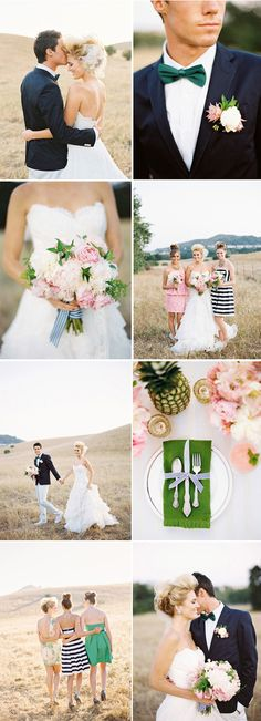 love the navy stripes, the pinky coral, the green and the tropical yet preppy feel