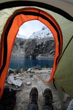 Laguna 69 campsite   Flickr - Photo Sharing!