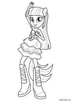 Cute Coloring Pages, Coloring Pages For Girls, Coloring Sheets, Coloring Books, My Little Pony Coloring, Mlp My Little Pony, All Disney Princesses, Daisy Girl Scouts, Disney Colors