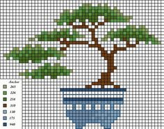 Bonsai perler bead pattern