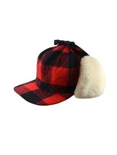 da6c57514e3 Buffalo Check Wool and Shearling Fudd Cap