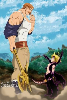 Meliodas vs Escanor - Estilo Anime by Dummy thicc Escanor Seven Deadly Sins Anime, Seven Deadly Sins Tattoo, Otaku Anime, Anime Naruto, Manga Anime, Meliodas Vs, Ken Kaneki Tokyo Ghoul, Super Anime, Animes To Watch