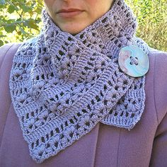 100%wool neckwarmer and my daughter's polymer button