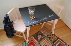 Before &amp After: Kids Table & Chairs — SugarScout