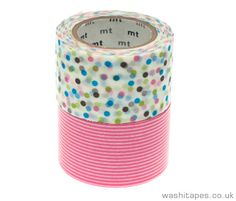 MT two piece Wide - Pink Stripe and Spots