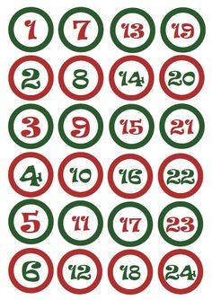 Własnoręcznie zrobiony kalendarz adwentowy