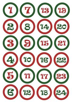Christmas Journal, Christmas Calendar, Christmas Countdown, Christmas Wreaths, Christmas Crafts, Advent Calander, Calendar Numbers, Classroom Calendar, Printable Numbers