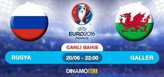 Euro 2016 Grup B büyük rekabete sahne olacak. Rusya kendi sahave taraftarı önünde Galler karşısında. Geçtiğimiz haftalarda ise Rusya son 10 resmi maçta 4 galibiyet, 2 beraberlik ve 4 mağlubiyet aldı. Galler ise son 10 resmi maçta 3 galibiyet, 2 beraberlik ve 5 mağlubiyet aldı. Gruota oynadığı iki maçtan 3 puan çıkaran Galler, grup sonuncusu Rusya karşısında kazanarak işini diğer maça bırakmadan gruptan çıkmak istiyor.  https://www.dinamobet4.com/tr/sports#/
