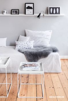 White Living Room / Hay Tray Table #madeindesign