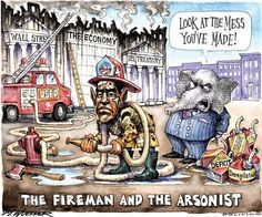 Who ya gonna believe? The fireman or the arsonist?