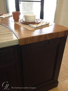Bon Custom Teak Wood Countertop, Designed For Use As A Curved Raised Kitchen  Bar Grothouse For A Kitchen In Denver, Colorado With Durata Waterproof  Finish
