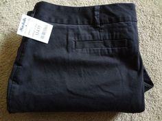 Lands' End Women's 22W/P Black 98%Cotton/2%Spandex Pants Made In Sri Lanka NWT #LandsEnd #CasualPants