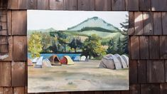 Oil Paintings, Oil On Canvas, Oregon, Fire, The Originals, Outdoor, Outdoors, Painted Canvas, Outdoor Living