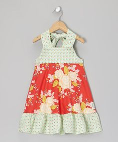 Take a look at this Strawberry Serenade Halter Dress - Infant, Toddler & Girls by Swanky Baby Vintage on #zulily today!
