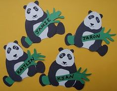 Crack of Dawn Crafts: Earth Day Panda Name Tags
