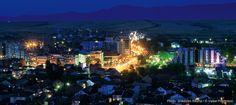 Gjakova city at night
