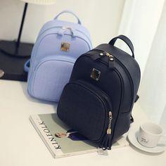 Niñas Para mujeres De Moda Cuero Bolsos de hombro mochila escolar mochila  de viaje  90f22c9e71aa5