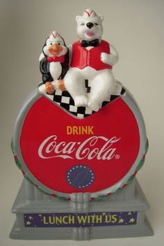 "Coca Cola ""Lunch with US"" Ceramic Cookie Jar"