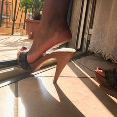 Zaffiro e Acciaio Open Toe Mules, Open Toe High Heels, Platform High Heels, High Heel Boots, Platform Mules, Sexy Legs And Heels, Sexy High Heels, Mules Shoes, Heeled Mules