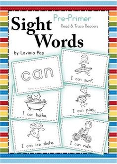 Sight Words - Read & Trace Booklets (Pre-Primer Words)