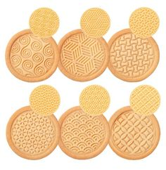 Tescoma Cookie Stamp, 6 Patterns Delicia, Assorted, x x cm Biscuits, Baking Gadgets, Cookie Cutters, Cookie Stamp, Bakery, Cookies, Classic, Amazon, Stamps