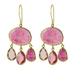 Accent your signature style with these flirty and feminine earrings by Pippa Small. Pink tourmaline stones set in 18-karat gold come together to create an elegant urchin silhouette. Wear them whenever you want to add a punch of color. Shipping & Return Policy