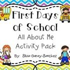 These are 20 pages of All About Me/Getting to Know You activity pages.  Use these as a way to get to know your students and for them to get to know...