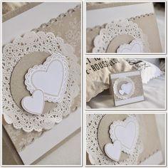 beadsdesign     ♥♥♥♥    love: I Love Lace Hochzeitskarte