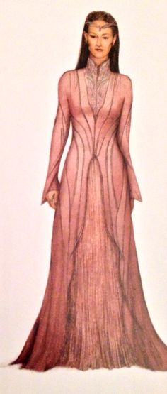 "Concept art of a Rivendell courtier from ""The Hobbit: An Unexpected Journey"" (2012)."