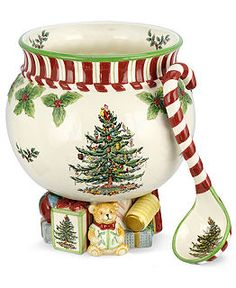 Spode Dinnerware, Christmas Tree Peppermint Collection -