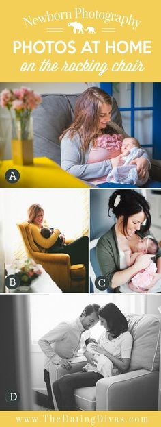 Newborn Photos on the Rocking Chair