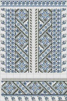 Beading _ Pattern - Motif / Earrings / Band ___ Square Sttich or Bead Loomwork ___ пикс Cross Stitch Borders, Cross Stitch Charts, Cross Stitch Designs, Cross Stitching, Cross Stitch Embroidery, Cross Stitch Patterns, Knitting Charts, Knitting Stitches, Knitting Patterns