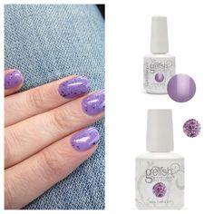 Gelish polish - Princess Tiara and top coat of Feel Me on Your Fingertips #spring