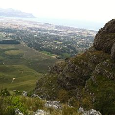 View from the Helderberg over Somerset West, Strand and Gordon's Bay I have climbed this mountain! Provinces Of South Africa, Somerset West, Dream City, Countries Of The World, Mountain View, Cape Town, Continents, Exploring, Landscapes