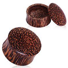 Organic Coconut Wood Stash Saddle Plug - - Sold as a Pair Plugs Earrings, Gauges Plugs, Organic Plugs, Wood Plugs, Tunnels And Plugs, Coconut Shell, Stretched Ears, Body Jewelry, Jewlery