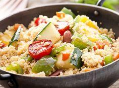 Cous cous con verdure e gamberetti