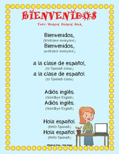 """I teach this song on the first day of Spanish class. It helps students build some basic Spanish vocabulary. We sing it each day as we enter class and transition from their """"English speaking day"""" to Spanish immersion. After, we start calendar activities, take attendance, talk about who may be sick and what students did over the weekend. It is a fun way to segue into Spanish instruction. (Loosely based on the tune)#docentes #maestras #preescolar #motricidadfina #grafomotricidad #lectoescritu"""